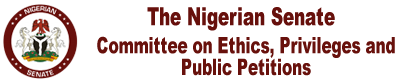 Senate Committee on Ethics Privileges and Public Petitions Logo